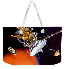 Huygens Probe Separating Weekender Tote Bag by NASA and Photo Researchers