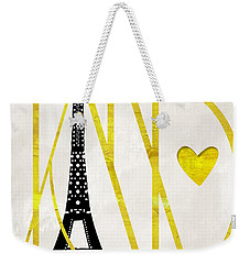 I Love Paris Weekender Tote Bag by Mindy Sommers