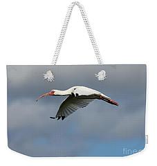 Ibis In Flight Weekender Tote Bag by Carol Groenen
