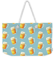 Ice Cold Beer Pattern Weekender Tote Bag by Little Bunny Sunshine