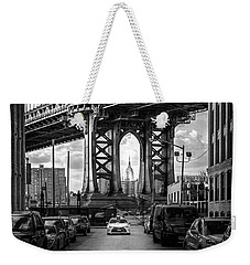 Iconic Manhattan Bw Weekender Tote Bag by Az Jackson
