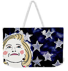 I'm With Her Weekender Tote Bag by Jim Smith