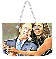 Imagine All The People Weekender Tote Bag by Wayne Pascall
