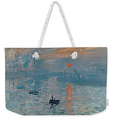 Impression Sunrise Weekender Tote Bag by Claude Monet