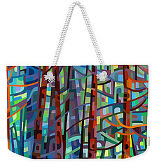 In A Pine Forest Weekender Tote Bag by Mandy Budan