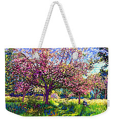 In Love With Spring, Blossom Trees Weekender Tote Bag by Jane Small
