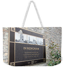 Weekender Tote Bag featuring the photograph In Memoriam - Ypres by Travel Pics