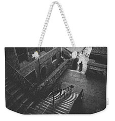 In Pursuit Of The Devil On The Stairs Weekender Tote Bag by Joseph Westrupp