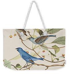 Indigo Bird Weekender Tote Bag by John James Audubon