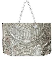 Interior Of Saint Pauls Cathedral Weekender Tote Bag by John Coney