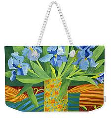 Iris Weekender Tote Bag by Jennifer Abbot