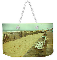Is This A Beach Day - Jersey Shore Weekender Tote Bag by Angie Tirado