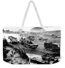 Iwo Jima Beach Weekender Tote Bag by War Is Hell Store