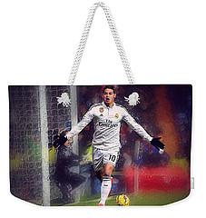 James Rodrigez Weekender Tote Bag by Semih Yurdabak