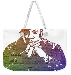 Jay Z Typography Weekender Tote Bag by Dan Sproul