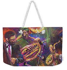 Jazz Jazzband Trio Weekender Tote Bag by Yuriy  Shevchuk