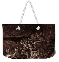 Jesus Stilling The Tempest Weekender Tote Bag by Gustave Dore