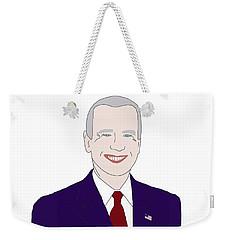 Joe Biden Weekender Tote Bag by Priscilla Wolfe