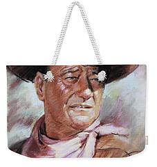 John Wayn Weekender Tote Bag by Ylli Haruni
