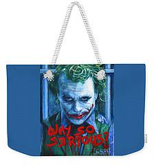 Joker - Why So Serioius? Weekender Tote Bag by Bill Pruitt