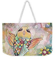 Joyful Koi I Weekender Tote Bag by Shadia Derbyshire