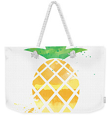 Juicy Pineapple Weekender Tote Bag by Linda Woods