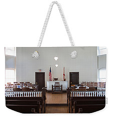 Jury Box In A Courthouse, Old Weekender Tote Bag by Panoramic Images