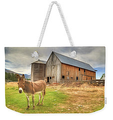 Just Another Day On The Farm Weekender Tote Bag by Donna Kennedy
