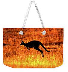 Kangaroo Sunset Weekender Tote Bag by Bruce J Robinson