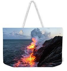 Kilauea Volcano Lava Flow Sea Entry 3- The Big Island Hawaii Weekender Tote Bag by Brian Harig