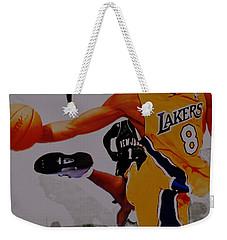 Kobe Bryant Taking Flight 3a Weekender Tote Bag by Brian Reaves
