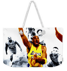 Kobe Bryant Took Flight Weekender Tote Bag by Brian Reaves