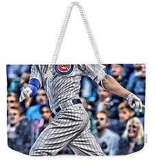 Kris Bryant Chicago Cubs Weekender Tote Bag by Joe Hamilton