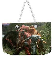 La Belle Dame Sans Merci Weekender Tote Bag by Sir Frank Dicksee