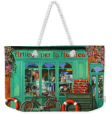 La Bicicletta Rossa Weekender Tote Bag by Guido Borelli