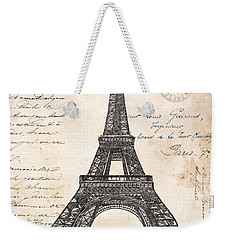 La Tour Eiffel Weekender Tote Bag by Debbie DeWitt