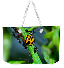 Ladybird And The Ants 2 By Kaye Menner Weekender Tote Bag by Kaye Menner