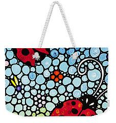 Ladybug Art - Joyous Ladies 2 - Sharon Cummings Weekender Tote Bag by Sharon Cummings