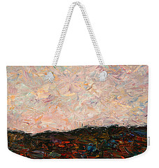 Land And Sky Weekender Tote Bag by James W Johnson