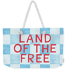 Land Of The Free Weekender Tote Bag by Linda Woods