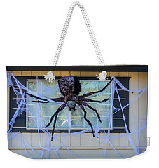 Large Scary Spider  Weekender Tote Bag by Garry Gay