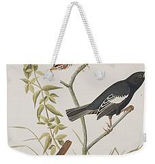 Lark Finch Prairie Finch Brown Song Sparrow Weekender Tote Bag by John James Audubon