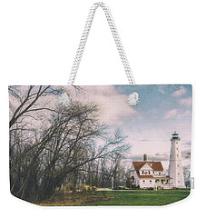 Late Afternoon At The Lighthouse Weekender Tote Bag by Scott Norris
