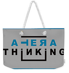 Lateral Thinking Weekender Tote Bag by Mal Bray