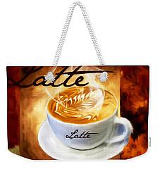Latte Weekender Tote Bag by Lourry Legarde
