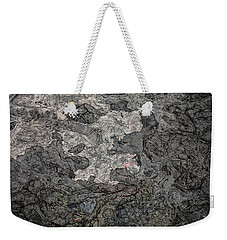 Weekender Tote Bag featuring the photograph Lava Flow by M G Whittingham