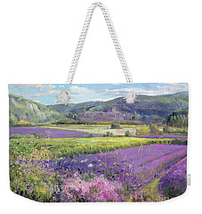 Lavender Fields In Old Provence Weekender Tote Bag by Timothy Easton