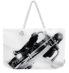 Leaning Hard Weekender Tote Bag by Bill Cannon