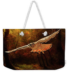 Leaving The Enchanting Forest Weekender Tote Bag by Donna Kennedy