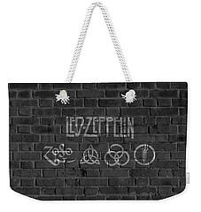 Led Zeppelin Brick Wall Weekender Tote Bag by Dan Sproul